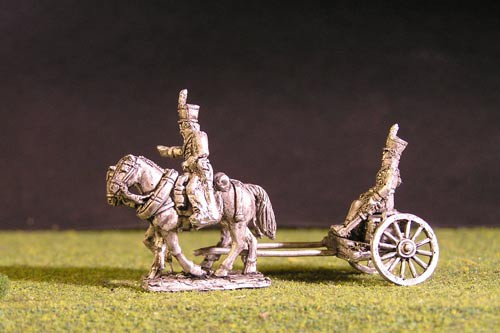 Brunswick Foot artillery Limber with 2 horses, 1 rider, 1 sitting driver