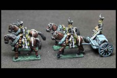 Brunswick Horse artillery Limber with 4 horses, 2 riders & 1 sitting driver