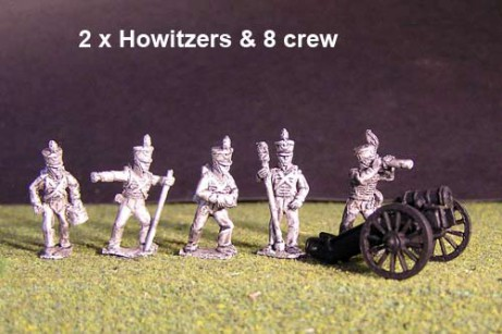 Battery of Brunswick Foot artillery with 2x 6lb British Guns & 8 figures