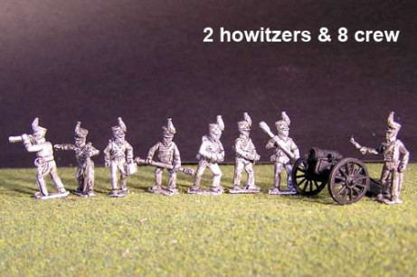 Battery of Brunswick Horse artillery with 2x 6lb British Guns & 8 figures