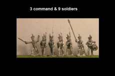 Brunswick Leib Battalion Marching 12 figs with Command