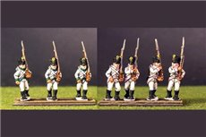 German Infantry in Shako Marching pack 1 (3 variants in 8 figures)