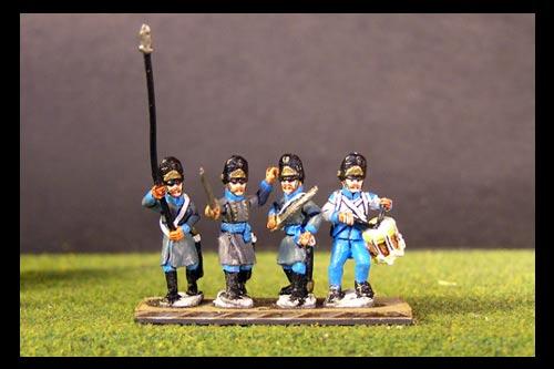 Hungarian Grenadier Command in Bearskin.