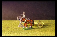 Austrian Artillery Limber with 2 horses and 1 rider