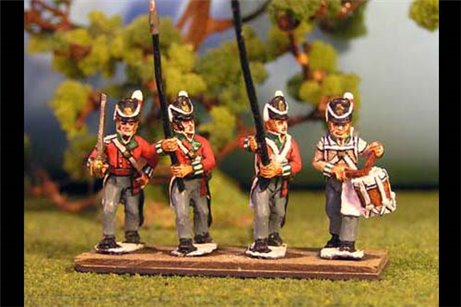 British/KGL Infantry Command Marching/Advancing Belgic Shako