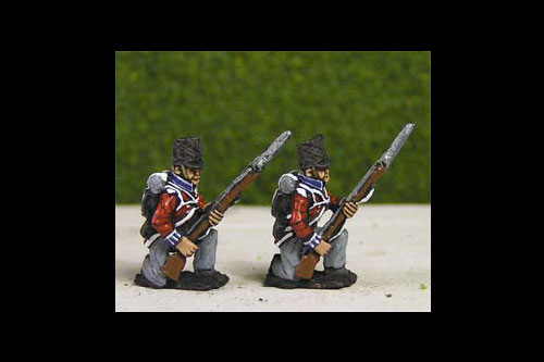 British/KGL Infantry Kneeling Covered Belgic Shako
