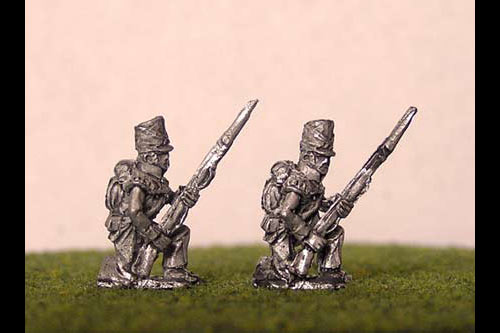 British/KGL Infantry Kneeling Covered Belgic Shako Flank Co