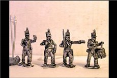 Infantry Command Waiting Stovepipe Shako