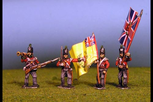 Light Infantry Command Waiting Stovepipe Shako x 8 (4 variants, Bugler, Officer & 2 Standard Bearers, 2 of each)