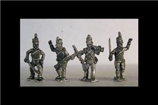 Riflemen Command (4 variants, 2 of each of 2 different officers, Bugler, Sergeant)