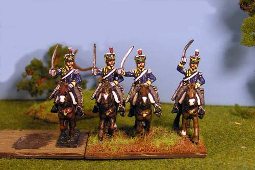 British & KGL Light Dragoons Charging x 4 (3 variants)
