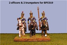 British & KGL Light Dragoons Command at Rest (2 Officers & 2 Trumpeters)