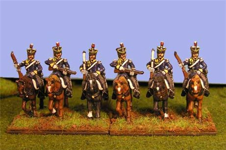 British & KGL Light Dragoons Carrying Carbine at Rest x 4 (3 variants)