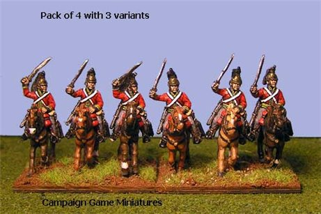 British Heavy Dragoons Charging x 4 (3 variants)