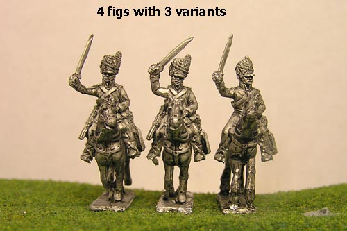 Scots Greys Charging x 4 (3 variants)