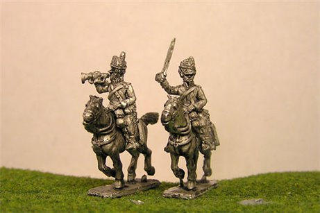 Scots Greys Command Charging x 4 (2 officers & 2 trumpeters)