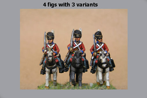 Scots Greys at Rest Sword on Shoulder x 4 (2 variants)