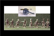 British Battery 6lb, 2 Guns & 8 Horse artillerymen