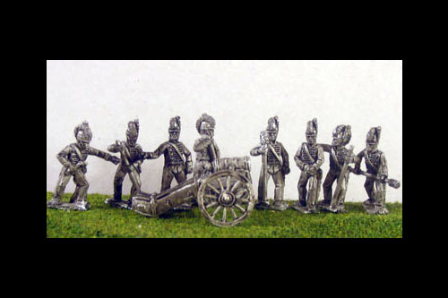 British Howitzer Battery  2 Guns & 8 Horse artillerymen