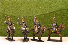 Peninsular British &  KGL Hussars Charging x 4 (3 variants)