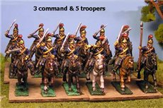Royal Horse Guards Charging (Household Cavalry) x 8 with Command