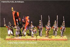Peninsular British Line Infantry Marching Stovepipe Shako 12 figs