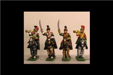 French Line Lancers Command in Helmet (x4) 2x Trumpeter & 2x Officers
