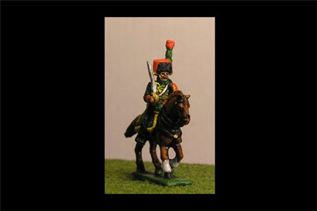 Chasseurs a Cheval de la Guard At Rest Full Dress (4 figs with 1 variant)