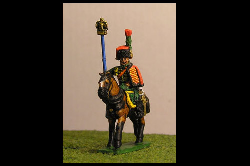 Chasseurs a Cheval de la Guard Eagle Bearer Full Dress x 2 figs