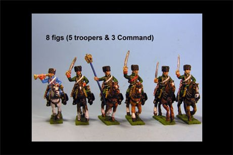 Chasseurs a Cheval de la Guard Charging Campaign Dress 8 figs with Command