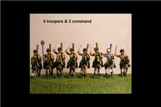 Chasseurs a Cheval de la Guard Charging Full Dress with Command 8 figs