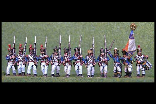 French Line March Attack/Marching 12 figs