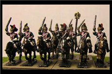 French Dragoons Charging x8