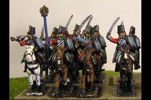 French Hussars Charging x8
