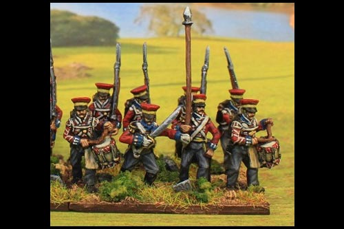 Hanover Command Marching in Caps (Feldmutz)