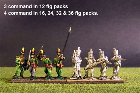 1st Rgt Firing Line, Covered Shako for all Troops.
