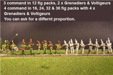 2nd Rgt Firing Line, Centre Companies Tuft Plum, Grenadiers in Colpack & Voltigeurs Plume & Epaulettes.