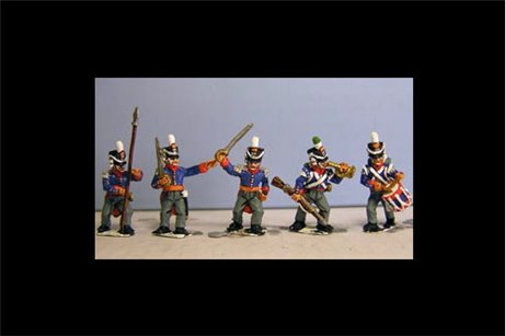 Orange Nassau Command (8 figures, 5 variants, 2 officers, Drummer, standard bearer, bugler)