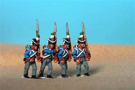 Orange Nassau Marching (12 figures, 6 fusiliers, 3 elites including sergent & 3 command)
