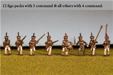 Grenadiers / Guard Advancing with Command 12 figs