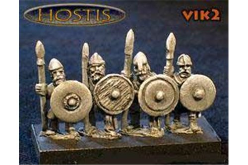 Viking Shieldwall Spearmen (8 figures per pack)