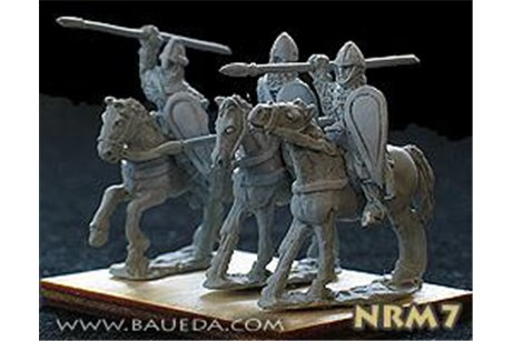 Norman Milites attacking  (4 mtd. Figures)