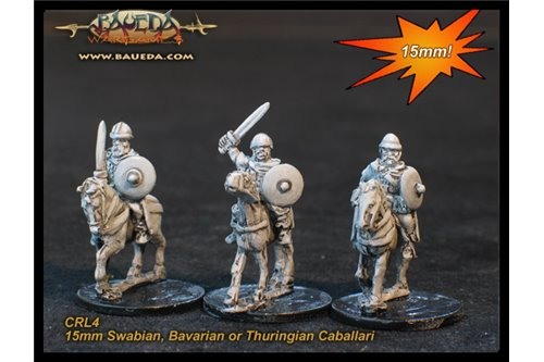 Swabian, Bavarian or Thuringian Caballari (4 mtd. Figures)