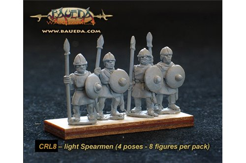 Frankish light Spearmen  (8 foot Figures)