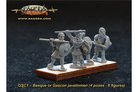 Basque or Gascon javelinmen (8 foot Figures)
