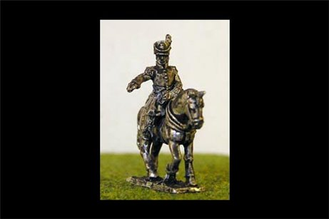 Mounted Belgian Colonel 2.  x 2 models with horses