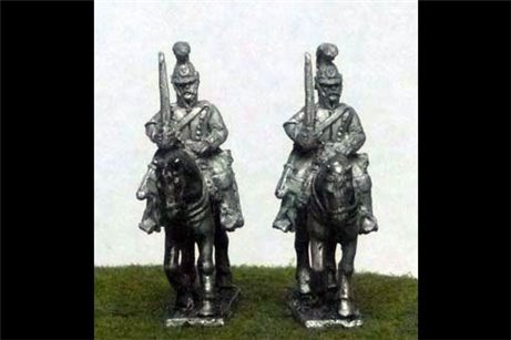Belgian Carabiniers at Rest in Helmet