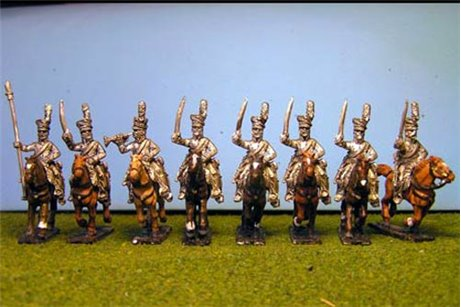 Uhlans Charging with Sword x 8 with Command