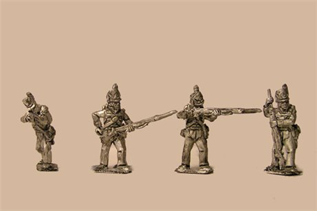 Peninsular British / KGL Line Infantry Firing/Skirmish Belgic Shako12 figs (1813-15)
