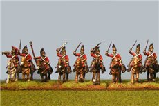 Peninsular British Heavy Dragoons Charging x 8 with Command